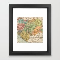 Vintage Map Framed Art Print