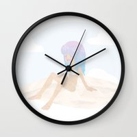 Pastel Beach Wall Clock