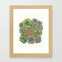 Blooming Succulents Framed Art Print