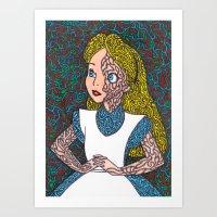 Alice In Psychedelic Art Print