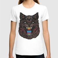 Bakeneko Womens Fitted Tee White SMALL
