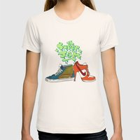 Super Jam Womens Fitted Tee Natural SMALL