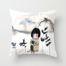 Cat and me Throw Pillow
