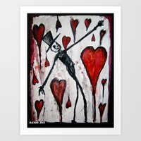 The Death Of Hearts Art Print