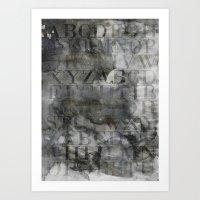 alphabet Art Prints featuring Alphabet by cafelab