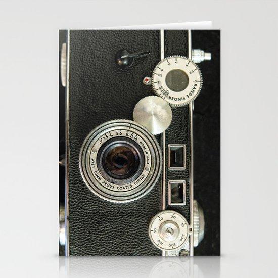 Vintage Range finder camera. Stationery Card