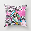 90's Nostalgia  Throw Pillow