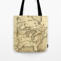 Great Lakes Map - 1737 Tote Bag