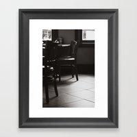 Please be Seated Framed Art Print