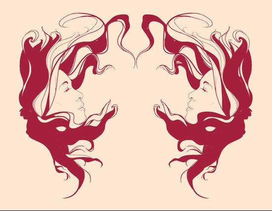 Wild Hair Diptych Art Print