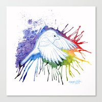 Colorburst Sparrow Canvas Print