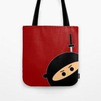 Ninja at Sunset Tote Bag