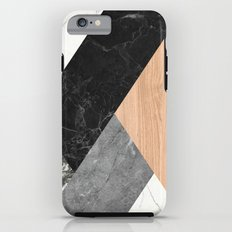 Marble and Wood Abstract iPhone 6s Tough Case