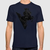 LAST CARD IN THE DECK BLACK Mens Fitted Tee Navy SMALL
