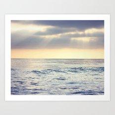 California Sunset over the Pacific Ocean Art Print