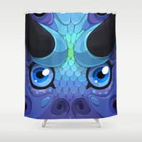 Lady Grey Shower Curtain