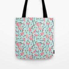 Cherry Blossom Pattern(sky) Tote Bag