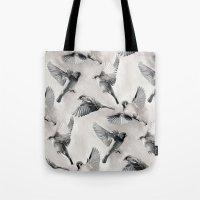 Sparrow Flight - Monochr… Tote Bag
