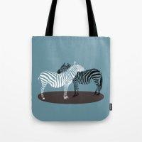 Zebra Embrace Tote Bag