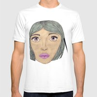 BUBBLEGUM REMIX: Elle Mens Fitted Tee White SMALL
