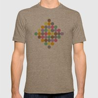 Candy Rounds Coal (white available too) Mens Fitted Tee Tri-Coffee SMALL