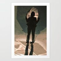 shadow shy Art Print