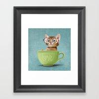Mr. Micio Miao - Kitten … Framed Art Print
