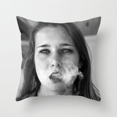 smoker and the thief  Throw Pillow