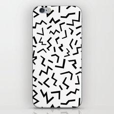 Maxie - black and white minimal modern abstract squiggle stripe dot lines geometric pattern urban  iPhone & iPod Skin