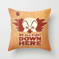 We All Float  Throw Pillow