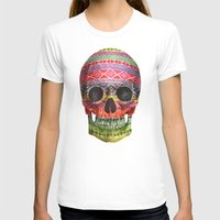 purple T-shirts featuring Navajo Skull  by Terry Fan