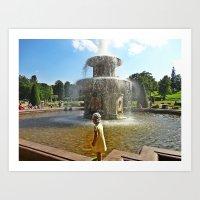 Fountain Kids Art Print