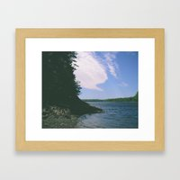 and i want you to stay Framed Art Print