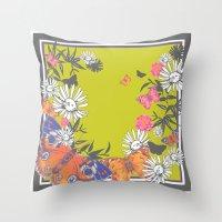 Flutterbies Throw Pillow