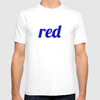 Red Mens Fitted Tee White SMALL