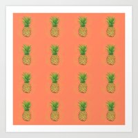 Fresh Pineapple Art Print