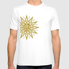 Star (gold) SMALL White Mens Fitted Tee