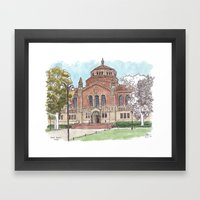 Powell Library UCLA Framed Art Print