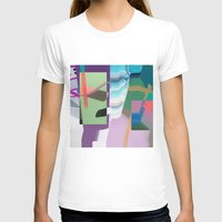 Split and Twist Womens Fitted Tee White SMALL