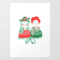 Christmas time Art Print