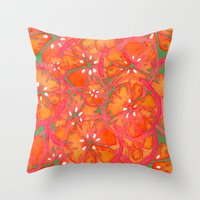 Watercolor Oranges Throw Pillow