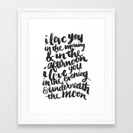 I love you in the morning Framed Art Print