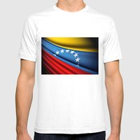 Flag Of Venezuela Mens Fitted Tee White SMALL