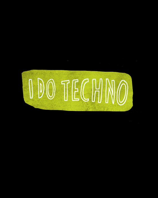 i do techno Canvas Print