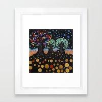:: Night Forest :: Framed Art Print