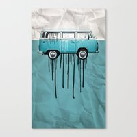 VW Kombi 2 Tone Paint Jo… Canvas Print