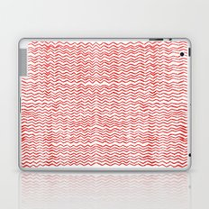 Red Wavy Chevrons Laptop & iPad Skin