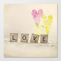 Translucent Love Canvas Print