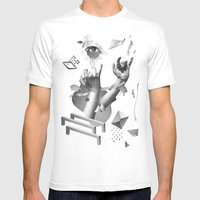 Hands Mens Fitted Tee White SMALL