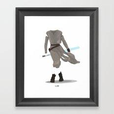Rey - The Force Awakens Framed Art Print
